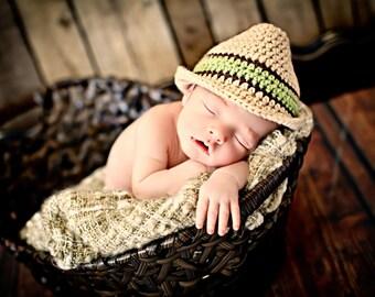 Newborn Photo Prop Baby Boy Fedora Hat