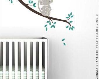 Monkey Branch III Wall Decal by LittleLion Studio