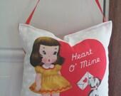 SALE - Valentines Door Hanger - Heart O' Mine