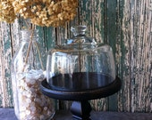 RESERVED for Rebecca - Glass Cloche on Wooden Base