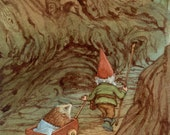 A Helping Hand Gnome and Hedgehog 8.5x11 Print Illustration