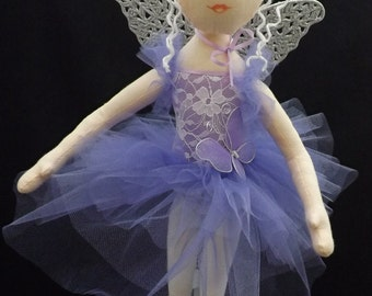 Cloth Ballerina Fairy Art Doll - OOAK