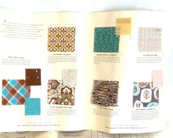 Vintage 1950s Fabric Samples 1st Edition JC Penneys Home Fashions Swatches Designs