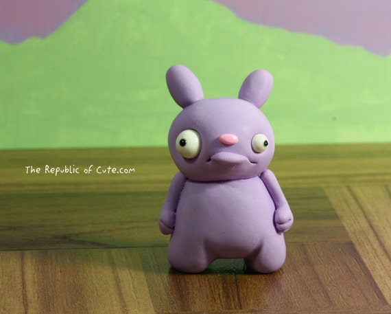 Odd Bunny Figurine - Offbeat original sculpture - Wacky gift for kids teens and adults - Gift packaging and card included