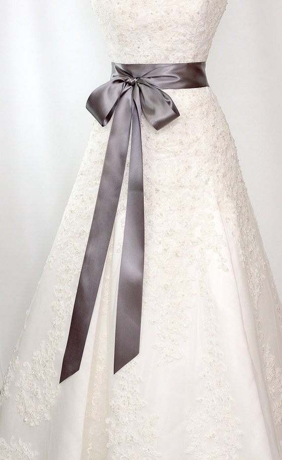 bridal sash romantic luxe satin ribbon sash by