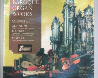 Baroque Organ Works Record with music by by Corrette, Albinoni, Handel, Mozart, Helmuth Rilling, Douglas Haas, Vintage Vinyl Turnabout LP