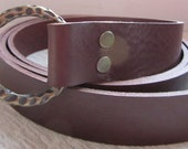 In-Stock Customizable 1 1/4 inch, Plain Design Leather Ring Belt, Medieval, Renaissance, SCA, Fantasy