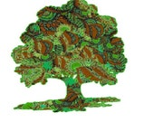 Tree Art Poster, tree painting, painting woods, modern tree, tree wall art, contemporary tree, pop abstract tree painting
