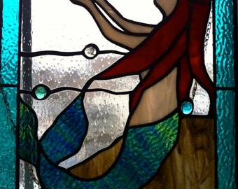 Stained Glass Mermaid (variation 1)