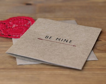 Valentine's Day Card Set of 10 - Be Mine