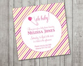 Printable Baby Shower Invitation- Oh Baby
