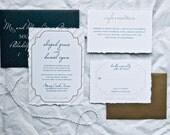 HLW Signature Collection Wedding Invitation Suite. Rustic Glam. Calligraphy Font. Elegant Wedding Invitations. Wedding Menu. Stationery Set