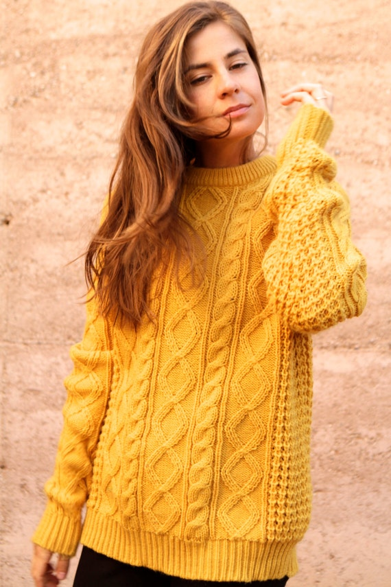 Yellow Cabled Cardigan – Craftbnb