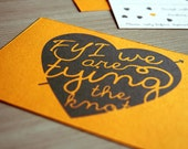 """Funny DIY wedding invitation suite with hearts/ yellow engagement invitations/ """"FYI we are tying the knot"""""""