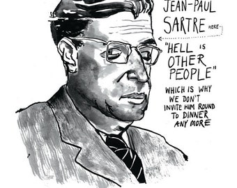 an overview of jean paul satres views on existentialism Book review: the early sartre and marxism, written by sam coombes   marxism and existentialism, the political philosophy of jean-paul sartre and  maurice merleau-ponty  sartre's view of kierkegaard as transhistorical man.