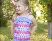 Paradise Bay Tankini: Girls Swimsuit Pattern, Baby Swimsuit Pattern, PDF Sewing Pattern