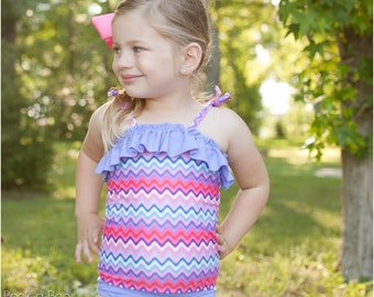 Paradise Bay Tankini: Girls Swimsuit Pattern, Baby Swimsuit Pattern, PDF Sewing Pattern