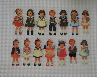 14 Lovely Cute Girls Iron On Stickers - 02
