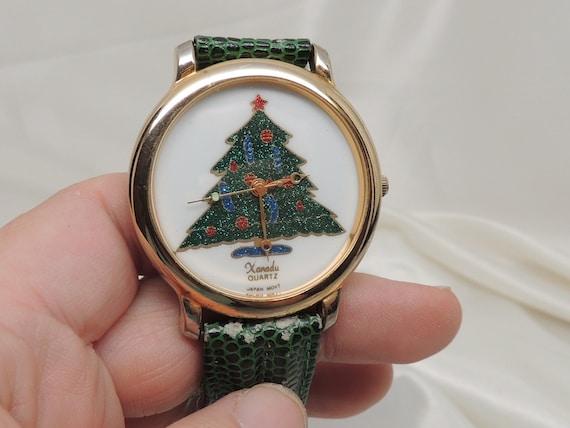 Vintage xanadu christmas tree watch
