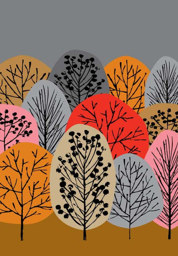 Autumn Woodland, limited edition giclee print