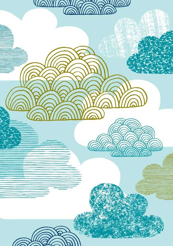 Blue Clouds, limited edition giclee print