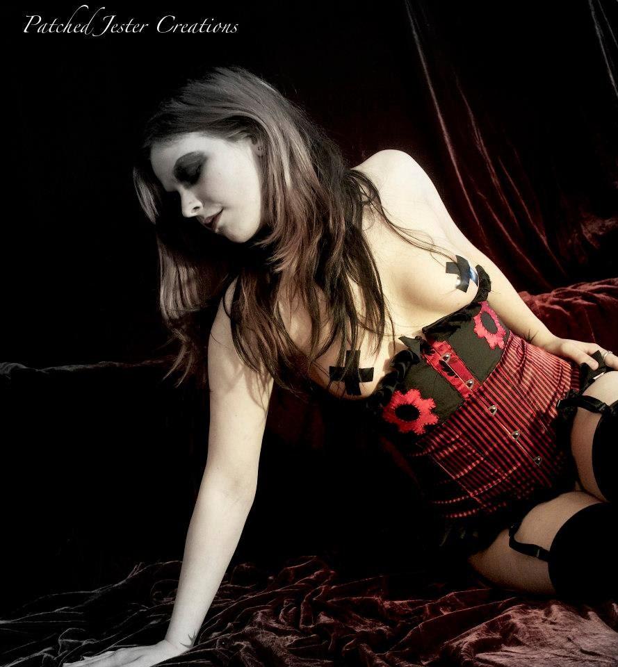 10% OFF Burlesque Steampunk Red Gear Underbust Corset steampunk buy now online