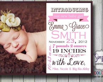 Girl Birth Announcement