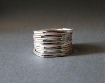 Multi Strand Soft Leather Bracelet(Silver)