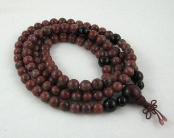 108 Mala Beads Beaded Necklace Jasper Onyx Prayer Buddhist Worry Beads Men Inspirational Jewelry Gift for Yogi Friend Yoga Meditation Prayer