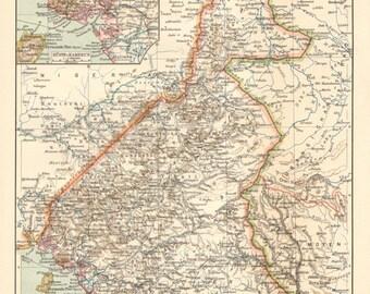 Original Antique City Map Of Oradea Großwardein Or - Oradea map