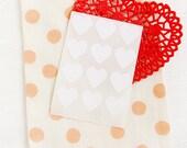 48 Heart Label Stickers- WHITE