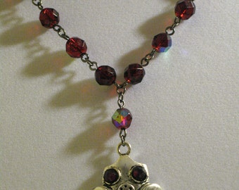 Gas Mask necklace in Red