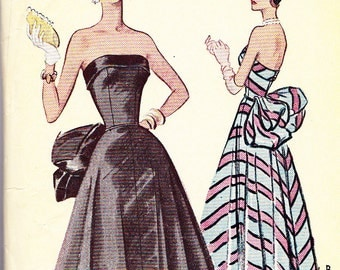 Vintage190s McCall pattern 8288 evening gown Bust 32