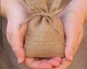 CUSTOM ORDER Rustic favor bags(110) burlap favor bags
