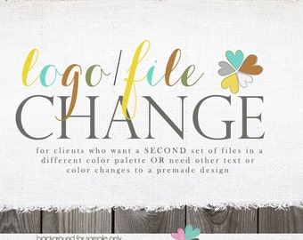 Add-on Color name or size Change - second/ new set of files in new color or new name or new size or new file types