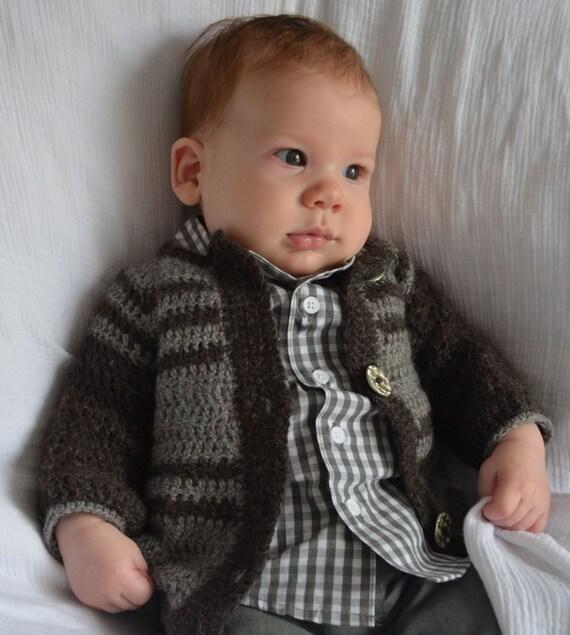 Undyed Alpaca Baby Sweater size 6-9 months