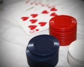 Vintage Poker Chips and Case