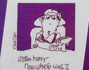 Ruth A. Sparrow NOW WHERE Was I Funny - Counted Cross Stitch Pattern Chart - fam
