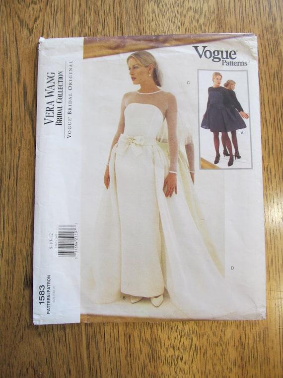Sheath Wedding Gown Pattern : Designer vera wang sheath wedding gown with detachable overskirt