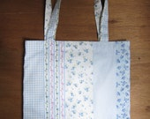 Sale - Floral handmade tote (with pocket lining)
