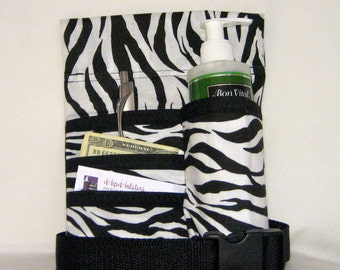 MADE TO ORDER - Animal Print 4 Pocket Massage Lotion Holster with Belt - Right Hip