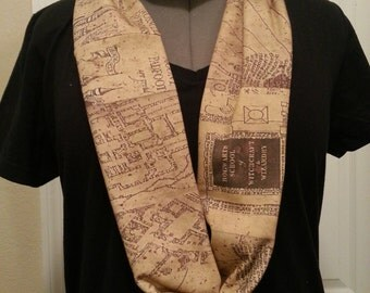 I solemnly swear that I am up to no good - infinity KNIT scarf - made to order