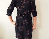 Vintage Black Disco Dress