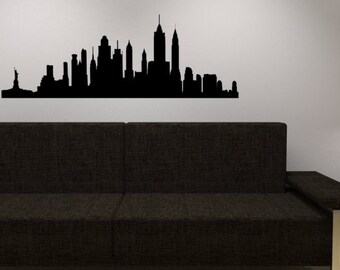 Marvelous New York Skyline Wall Decal   Vinyl Wall Sticker Decal   NY City Wall Vinyl Awesome Ideas