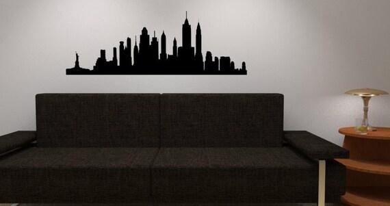 New York Skyline Wall Decal   Vinyl Wall Sticker Decal   NY City Wall Vinyl