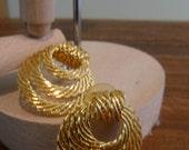80s Textured Earrings