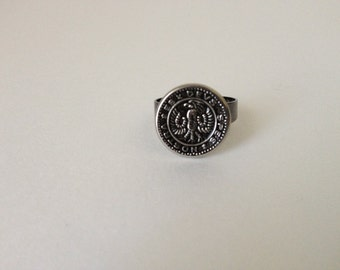 Teutonic Eagle Ring Mens Jewelry - embossed with a Teutonic Eagle