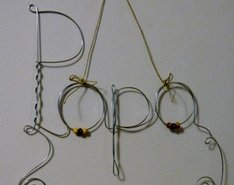 Fathers Day Gift Hanging Papa Wire Word Photo Holder Picture Frame with Plain, Classy, Wire Wall Art, Dad Gift Frame