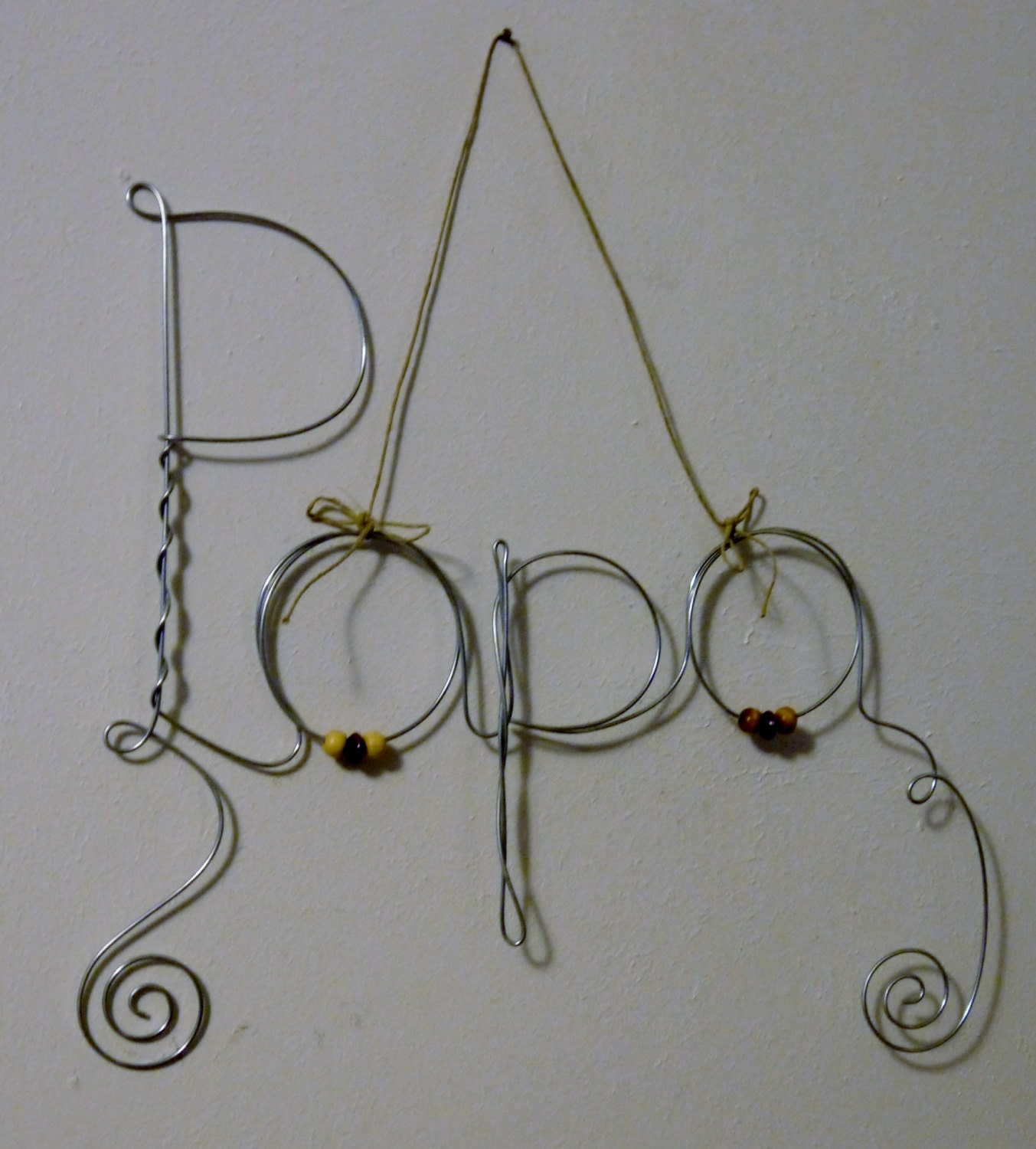 Fathers Day Gift Hanging Papa Wire Word Photo Holder Picture