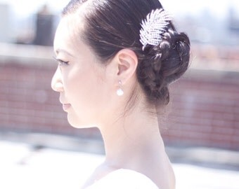 SKYLER - Rhinestone Bridal Hair Comb, Hair Clip